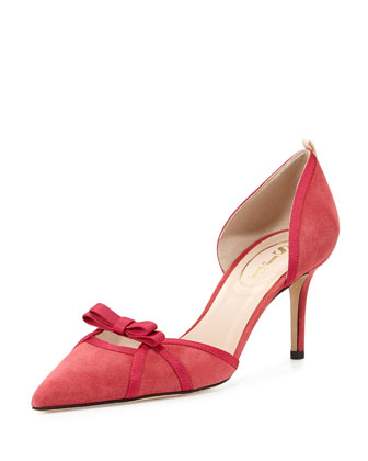 Brooks Suede d'Orsay Pump, Red