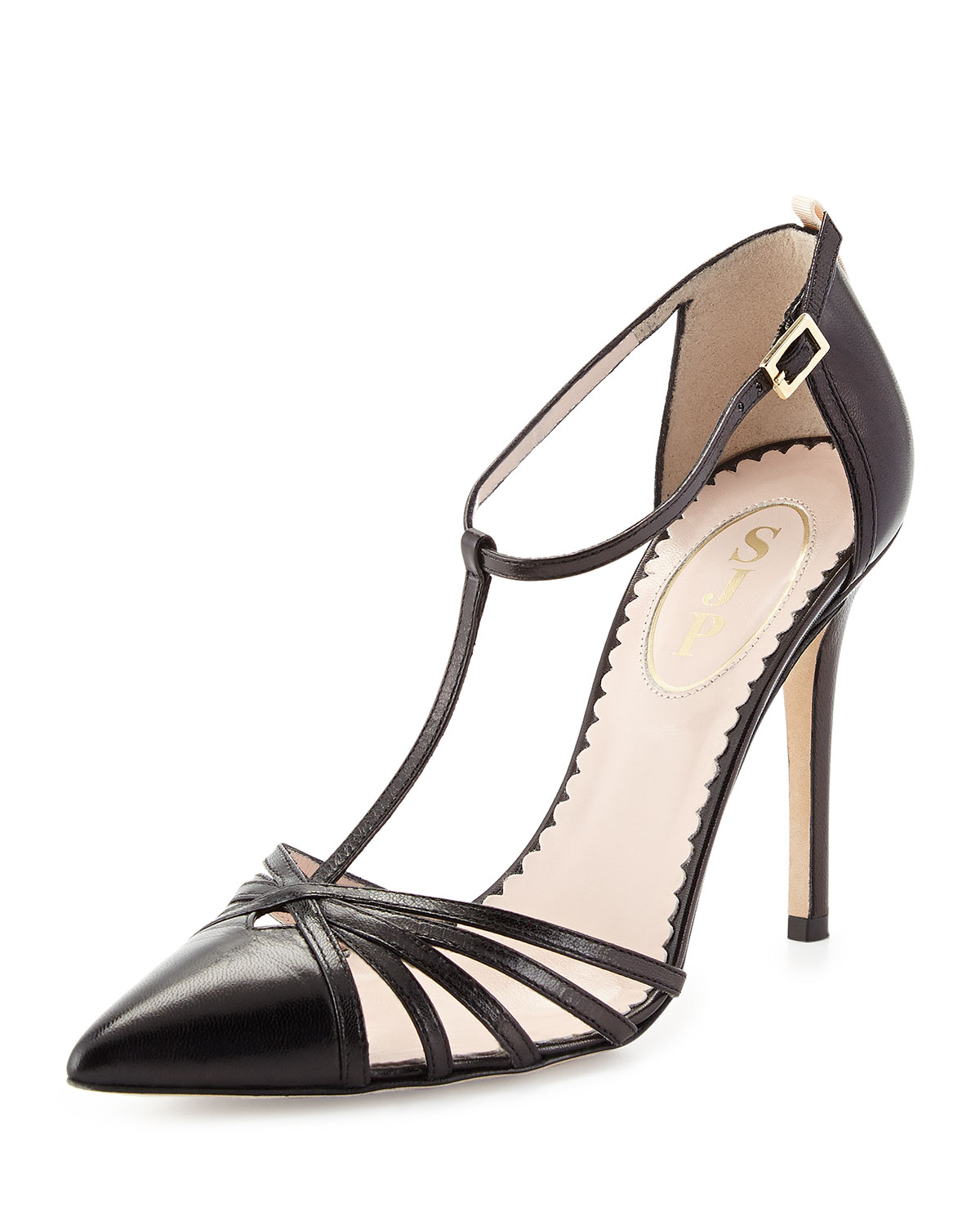 Carrie Leather T-Strap Pump, Black - SJP by Sarah Jessica Parker