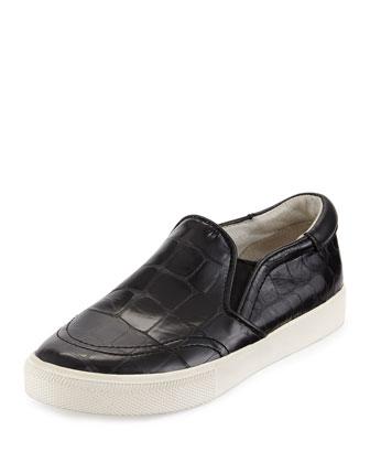 Impuls Leather Skate Sneaker, Black