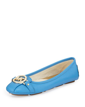 Fulton Saffiano Leather Mocassin, Heritage Blue