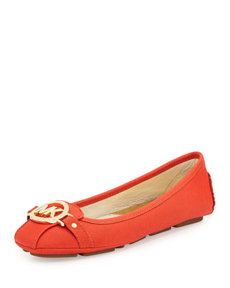 Fulton Saffiano Leather Moccasin, Mandarin