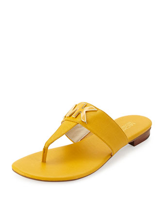 Hayley MK Leather Thong Sandal, Sun