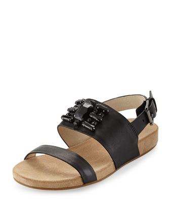 Luna Crystal Sandal, Black