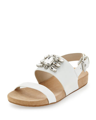 Luna Crystal Sandal, Optic White