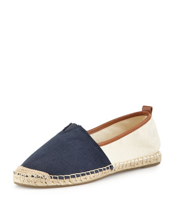 Meg Slip-On Espadrille, Navy/Natural