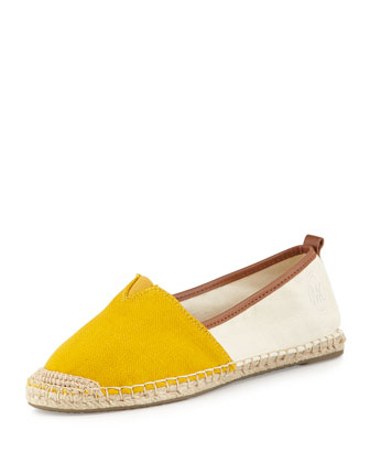 Meg Slip-On Espadrille, Sun/Natural