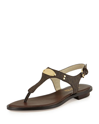 Plate Thong Sandal, Brown