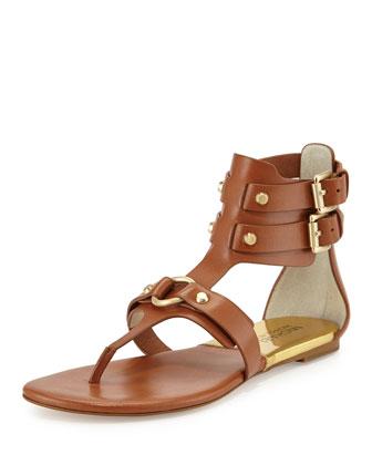 Nadine Gladiator Flat Sandal, Luggage