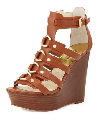 Nadine Studded Gladiator Wedge, Luggage