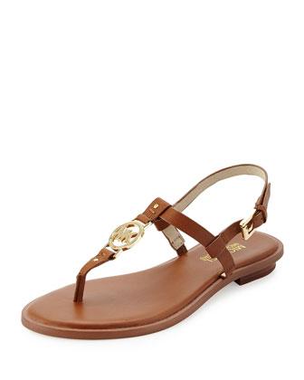 Sondra Logo Thong Sandal, Brown