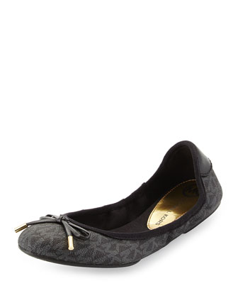 City Logo Ballet Flat, Black