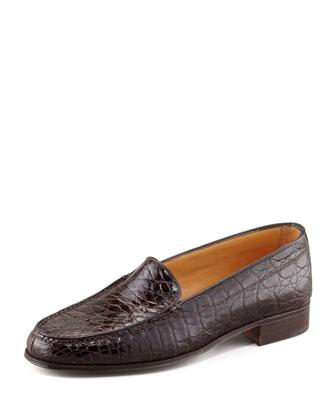 Crocodile Loafer, Dark Brown