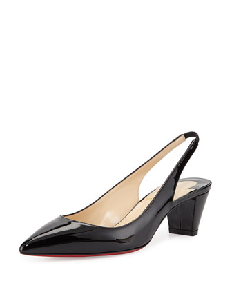 Karelli Slingback Red Sole Pump, Black
