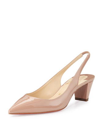 Karelli Slingback Red Sole Pump, Nude