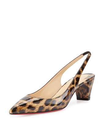 Karelli Slingback Red Sole Pump, Animal
