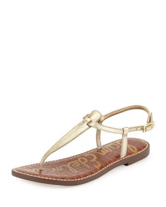 Gigi Metallic Snakeskin Sandal, Jute