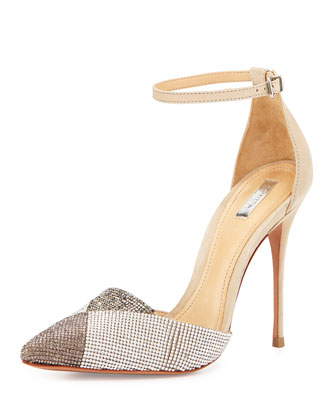 Emanuely Metallic Crystal-Studded Pump, Multi