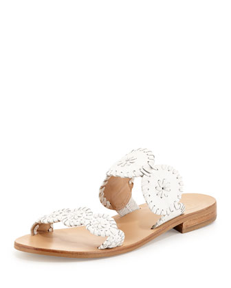 Lauren Double-Strap Sandal, White