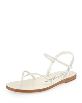 Iciar Crystal Thong Sandal, Ivory