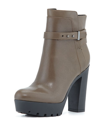 Emme Leather Boot, Olive