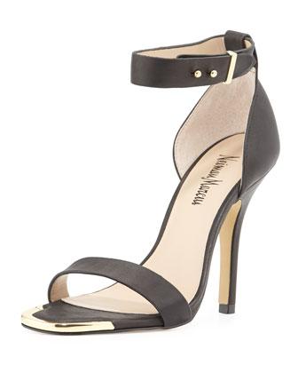 Yani Ankle-Strap Sandal, Black