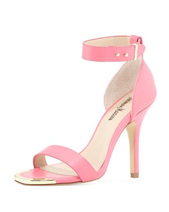 Yani Ankle-Strap Sandal, Pink