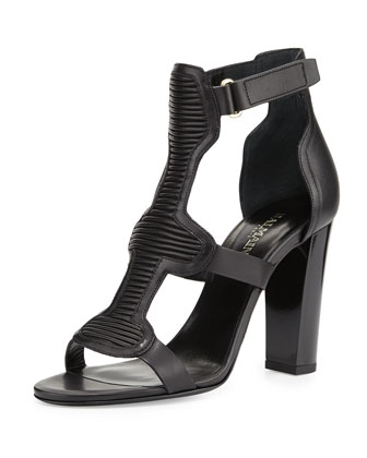 Argi Strappy Leather Sandal, Black