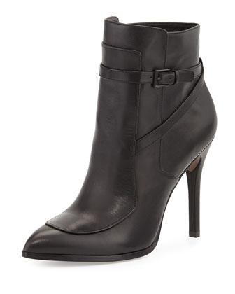 Zento Pointy Toe Bootie, Black