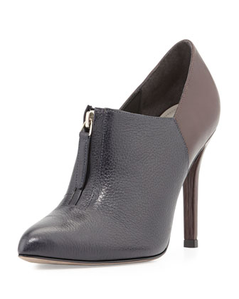 Ziva Colorblock Ankle Boot, Navy/Mocha