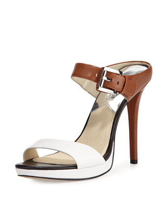 Beverly Leather Mule Pump, Optic White