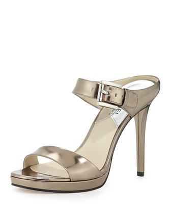 Beverly Specchio Mule Pump, Nickel