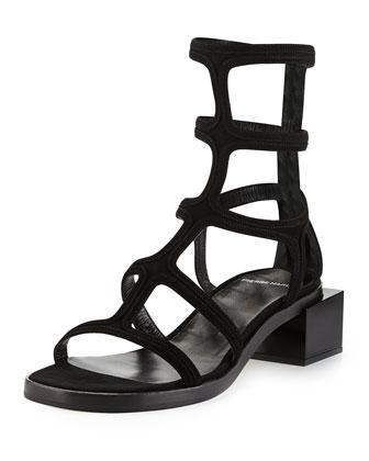 Xena Gladiator Sandal, Black