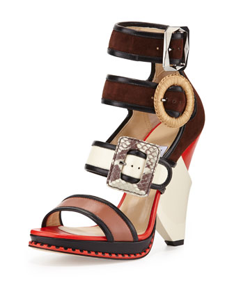 Kaya Ladder-Strap Wedge Sandal