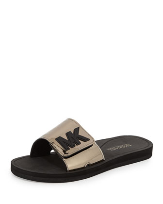 MK Sport Slide Sandal, Nickel