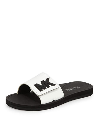 MK Sport Slide Sandal, Optic White