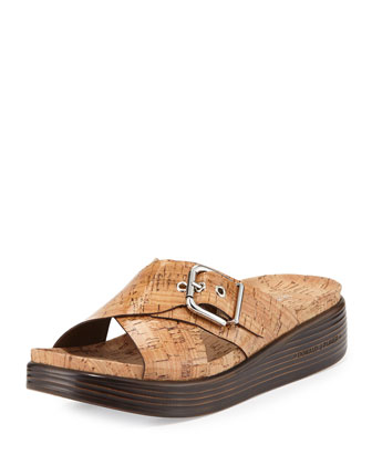 Farro Cork Crisscross Sandal, Natural