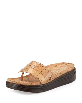 Fifi Patent Cork Slip-On, Natural