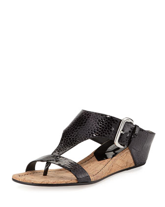 Doli 2 Patent Low-Wedge Cork Slide,