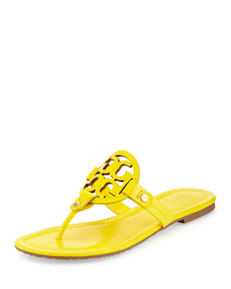 Miller Logo Flat Thong Sandal, Yellow