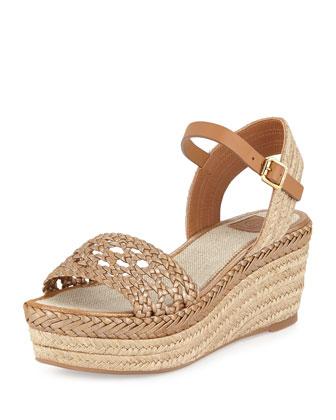 Solemar Platform Espadrille Sandal, Natural/Gold