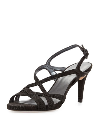 Axis Strappy Leather Sandal, Black