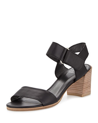 Broadband Leather City Sandal, Black