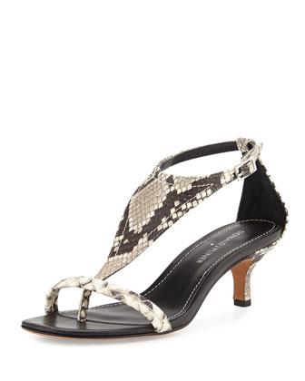 Monti T-Strap Kitten Heel Sandal, Ash