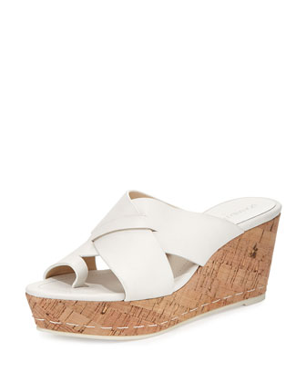 Fuji 2 Leather Toe-Ring Sandal, White
