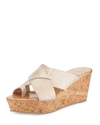 Fuji 2 Leather Toe-Ring Sandal, Platino