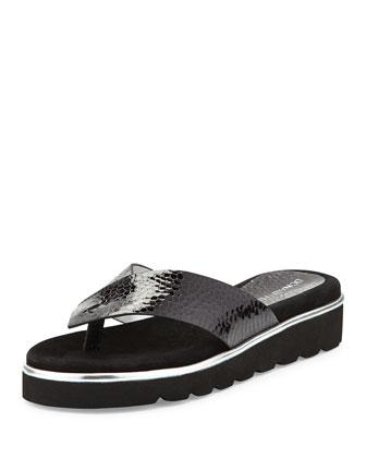 Liv2 Cushioned Flip-Flop Sandal, Black