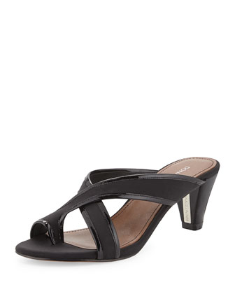 Velo Toe-Ring Sandal, Black