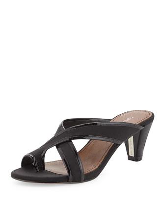 Velo Toe-Ring Sandal, Black
