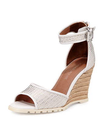 Brook Espadrille Wedge Sandal, White