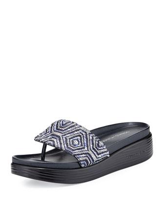 Fifi Woven Platform Sandal